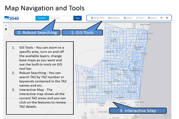 Map navigation and tools