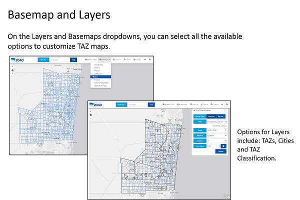 Basemap and layers